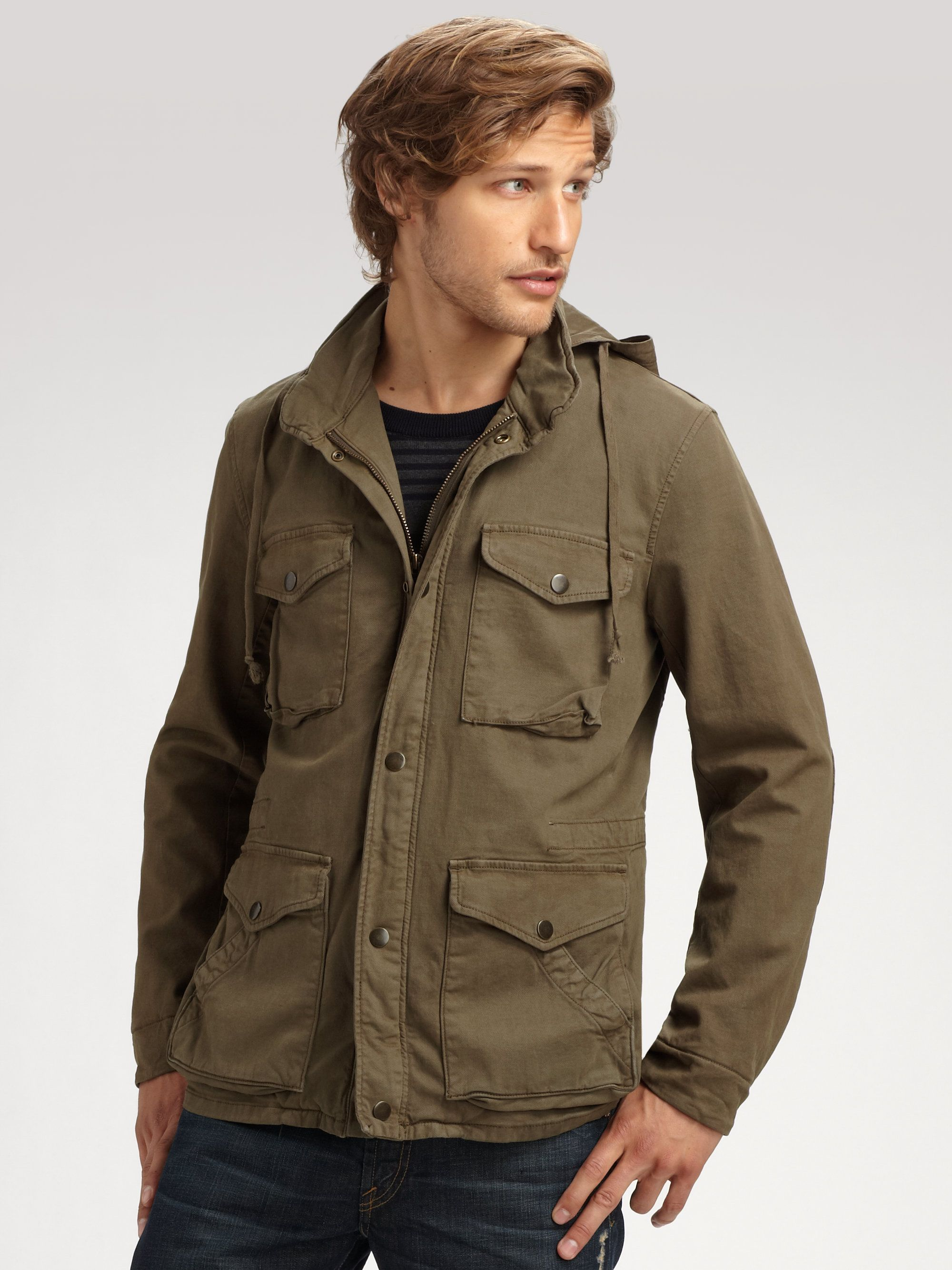 Vince Army Coat With Hood Army Coat Clothes Military Jacket [ 2667 x 2000 Pixel ]