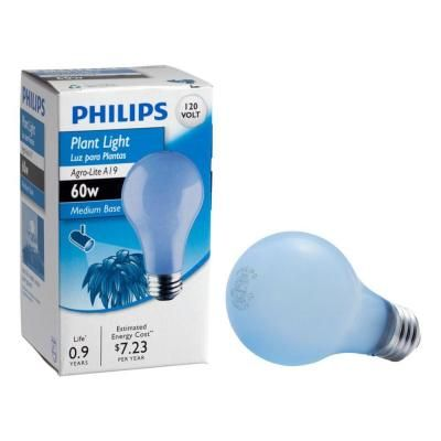 Philips 60 Watt A19 Dimmable Incandescent Agro Plant Grow