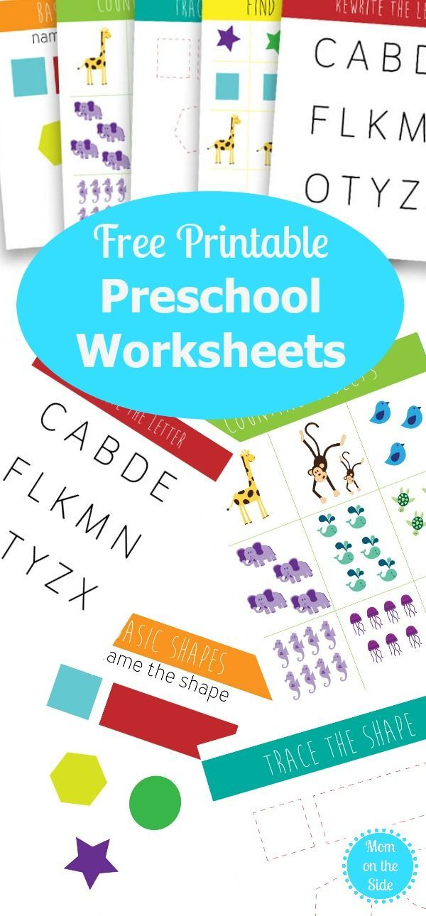 Printable Preschool Worksheets Packet | Printable preschool ...