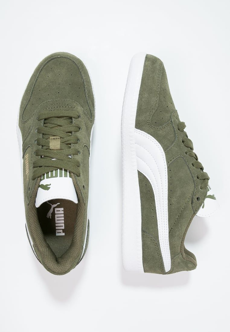 c8296a13370 Puma ICRA TRAINER - Sneakers laag burnt olive/white Dames Schoenen,puma  classic suede