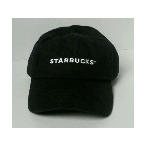 Starbucks New Black Barista Baseball Hat With Starbucks In White ... 69d629ed6bb7