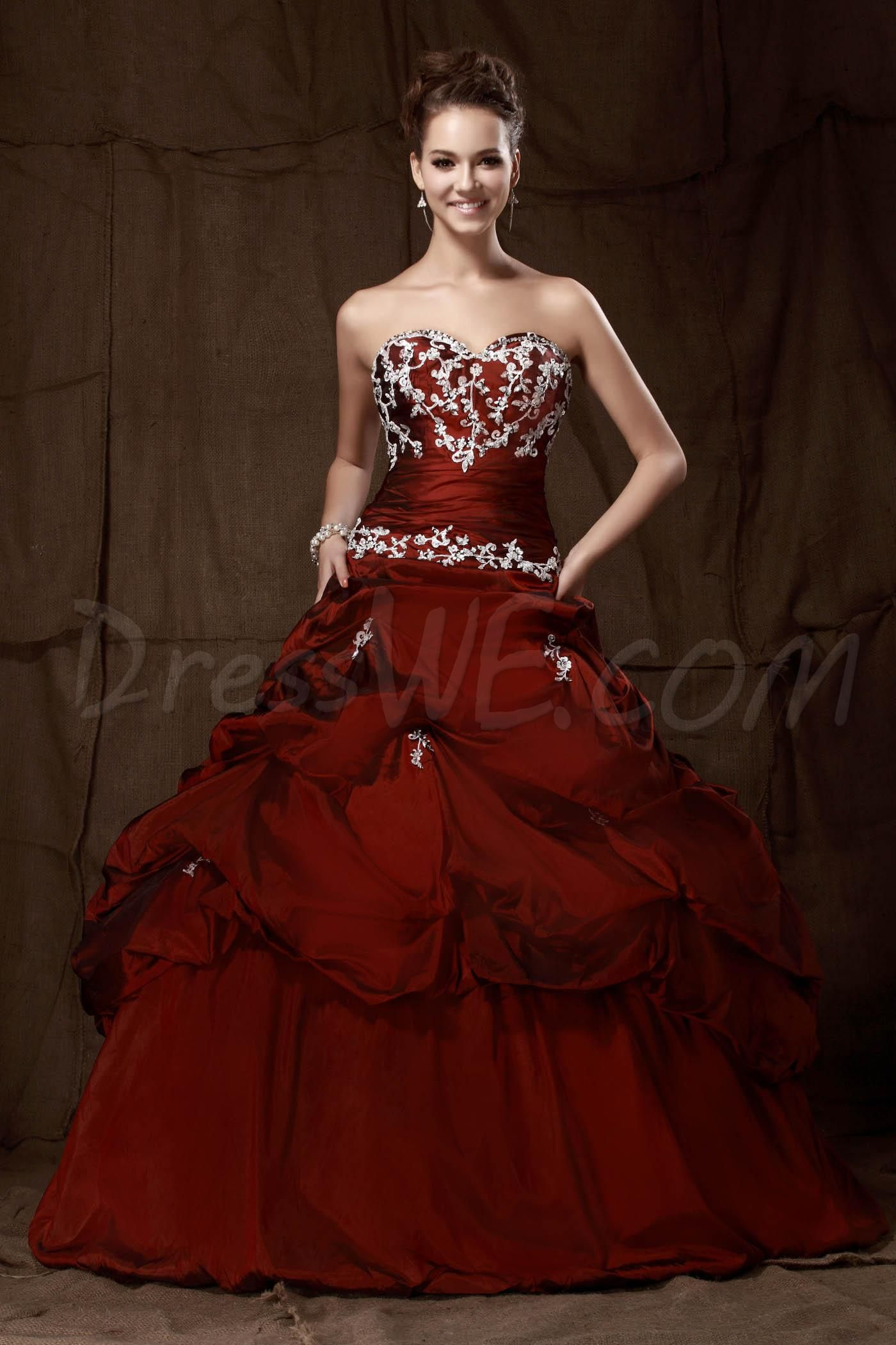Modern Ball Gown Sweetheart Floor-Length Pick-ups Sandra's ...