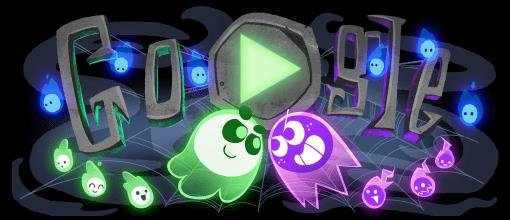 Google Halloween Game Google doodle halloween, Google