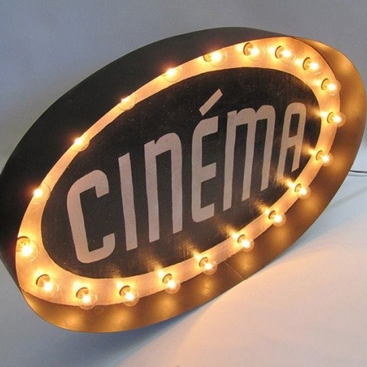 Light Up Theater: CINEMA Light Up Marquee Sign From Lisa Golightly