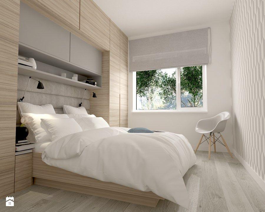 Projekt Domu Pod Warszawą Mała Sypialnia Małżeńska Styl