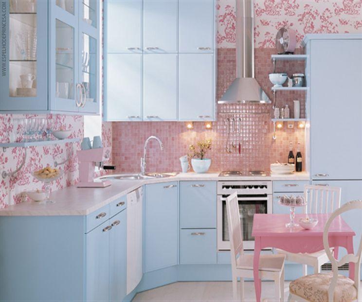 Azul E Rosa Cocinas Coloridas Cocina De Ensueno Cocinas Bonitas