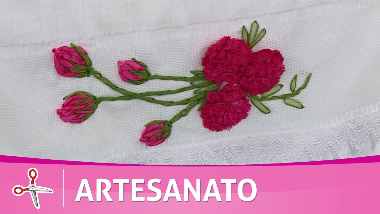 Vida com Arte | Flor anêmona em toalha de rosto por Zilda Mateus - 09 de...