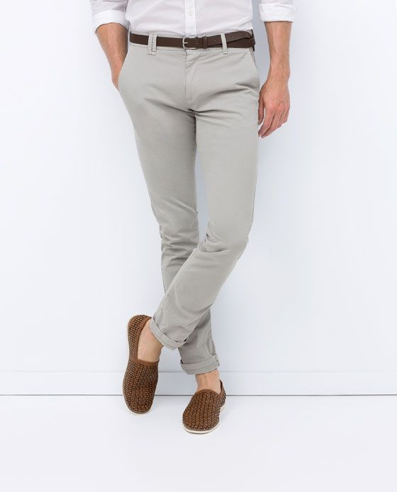 Style Hombre Pantalón Zara Chinos Pantalones Cinturón Chino qTIFwxf