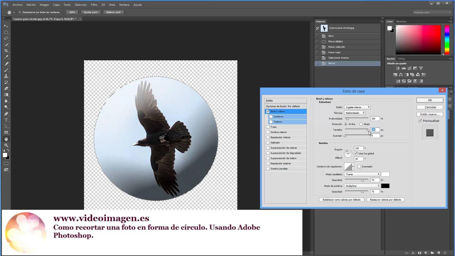Como hacer un circulo con una fotografia Adobe Photoshop | Arte ...