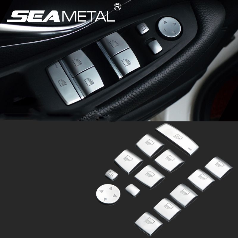 Car Door Window Lift Button Stickers Car-cover LHD For BMW 1 3 5 ...