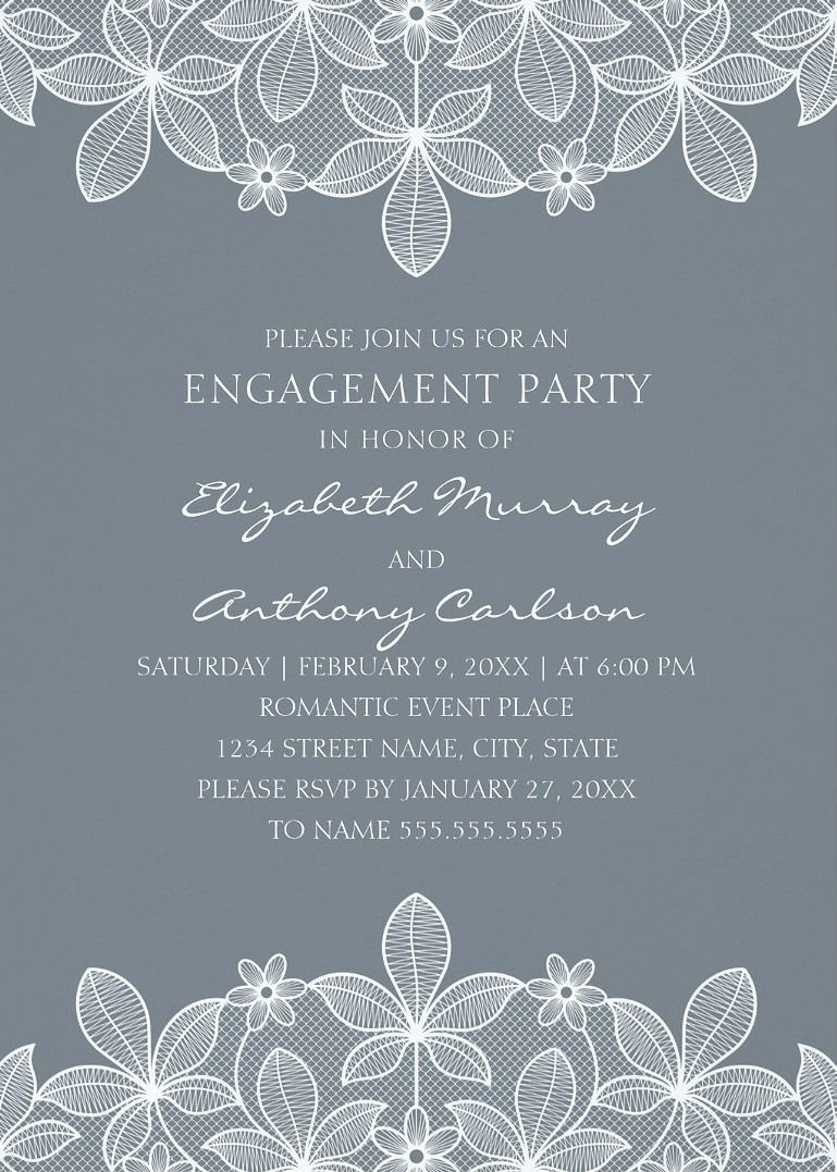 Unique Lace Engagement Party Invitations Elegant Country Cards Luxury Vintage Feature A Beautiful Rustic And