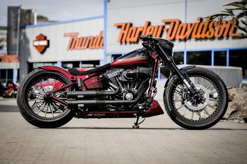 "Awesome custom bike Harley Davidson Softail ""Nobleout"" by"