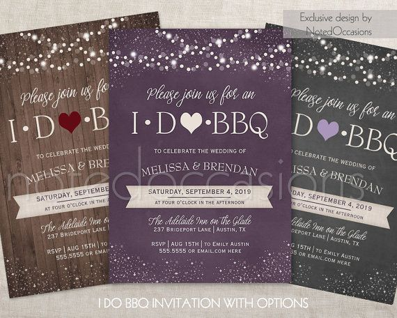 i do bbq invitations printable i do barbeque wedding reception only
