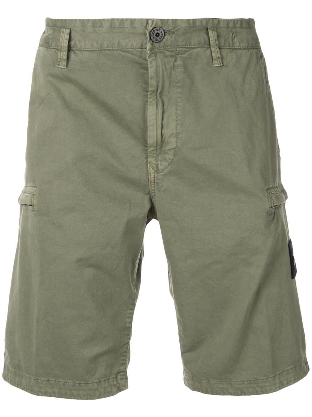 Stone Island Stone Island Logo Patch Cargo Shorts Green Stoneisland Cloth Cargo Shorts Patch Logo