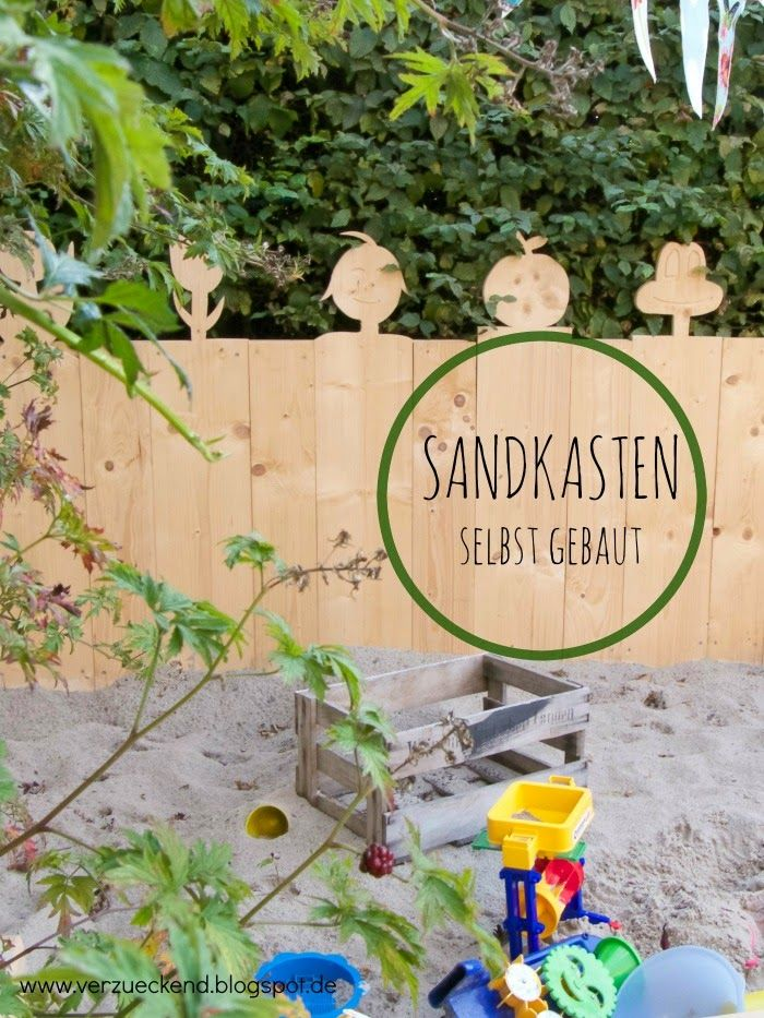 sandkasten selber bauen 1 verzueckend one pin a week pinterest gardens sandbox and garten. Black Bedroom Furniture Sets. Home Design Ideas