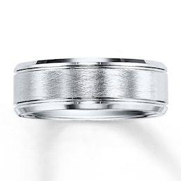8mm Wedding Band White Tungsten Carbide Kay In 2020 Mens Wedding Bands Tungsten Carbide Tungsten Wedding Bands Tungsten Carbide Wedding Bands