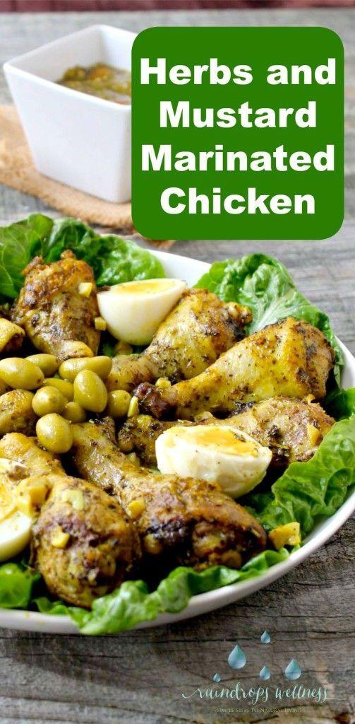 Herbs And Mustard Mediterranean Style Marinated Chicken Drumsticks