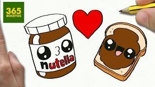 Como Dibujar Nutella Y Pan Enamorados Kawaii Paso A Paso