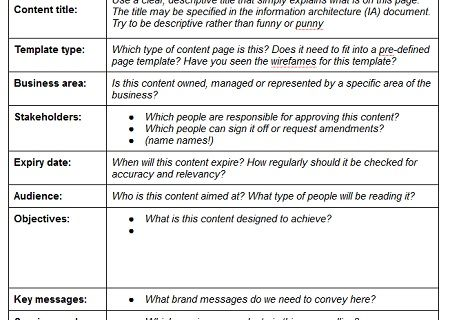 page table content strategy Pinterest - seo plan template