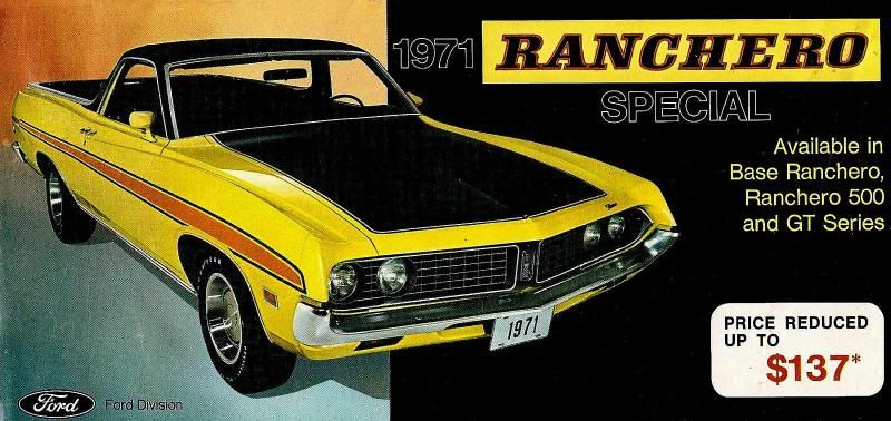 Old Car Brochures Ranchero  RancheroUs  Automotive Ads