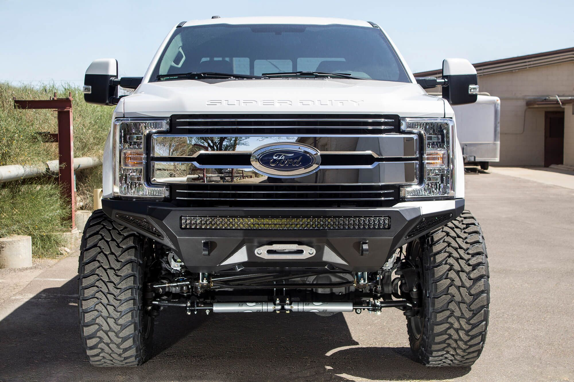 hight resolution of 2017 super duty winch front bumper ford superduty f250 f350