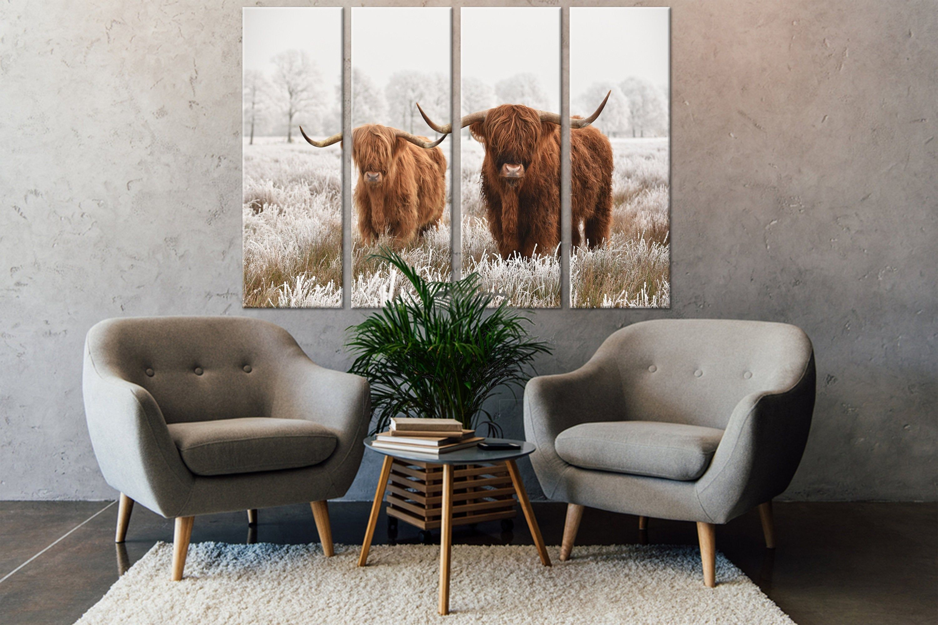 Canvas Wall Art Wall Hangings Scenic Winter Landscape Scottish Highlands In The Drenthe Region Of The Netherlands Wild Life Landscape Canvas In 2020 Arm Chairs Living Room Small Living Rooms Decor