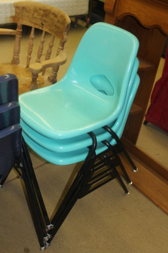 krueger folding chairs modern dining room chair covers fiberglass 1960 s 4 colors very good condition herman miller eames style