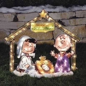 lighted outdoor snoopy nativity christmas lawn decorations peanuts christmas pageant