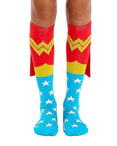 6bcc849a0c6 Caped Wonder Woman Socks - DC Comics - Spirithalloween.com
