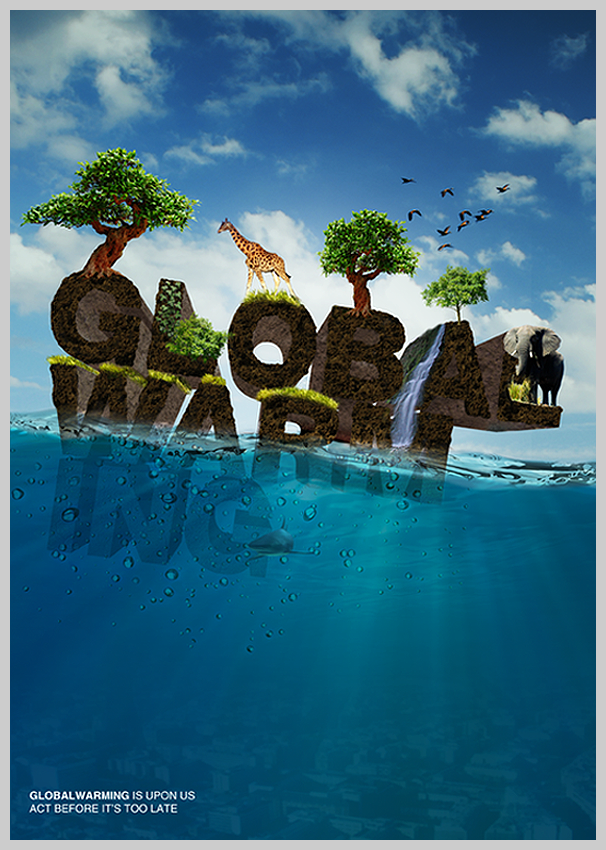 environmental awareness posters global warming