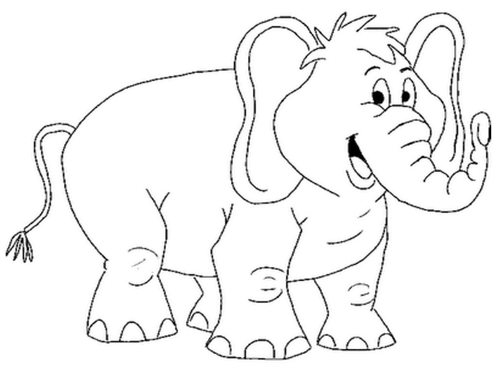 animalcoloringpages smiling elephant printable coloring pages - Outline Pictures Of Animals For Colouring