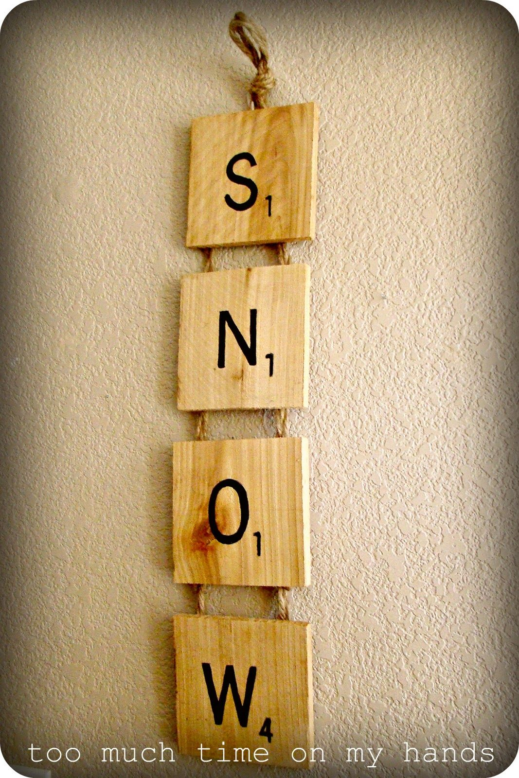 "Scrabble Tile ""SNOW"" Wall Decor | I love pallets | Pinterest ..."