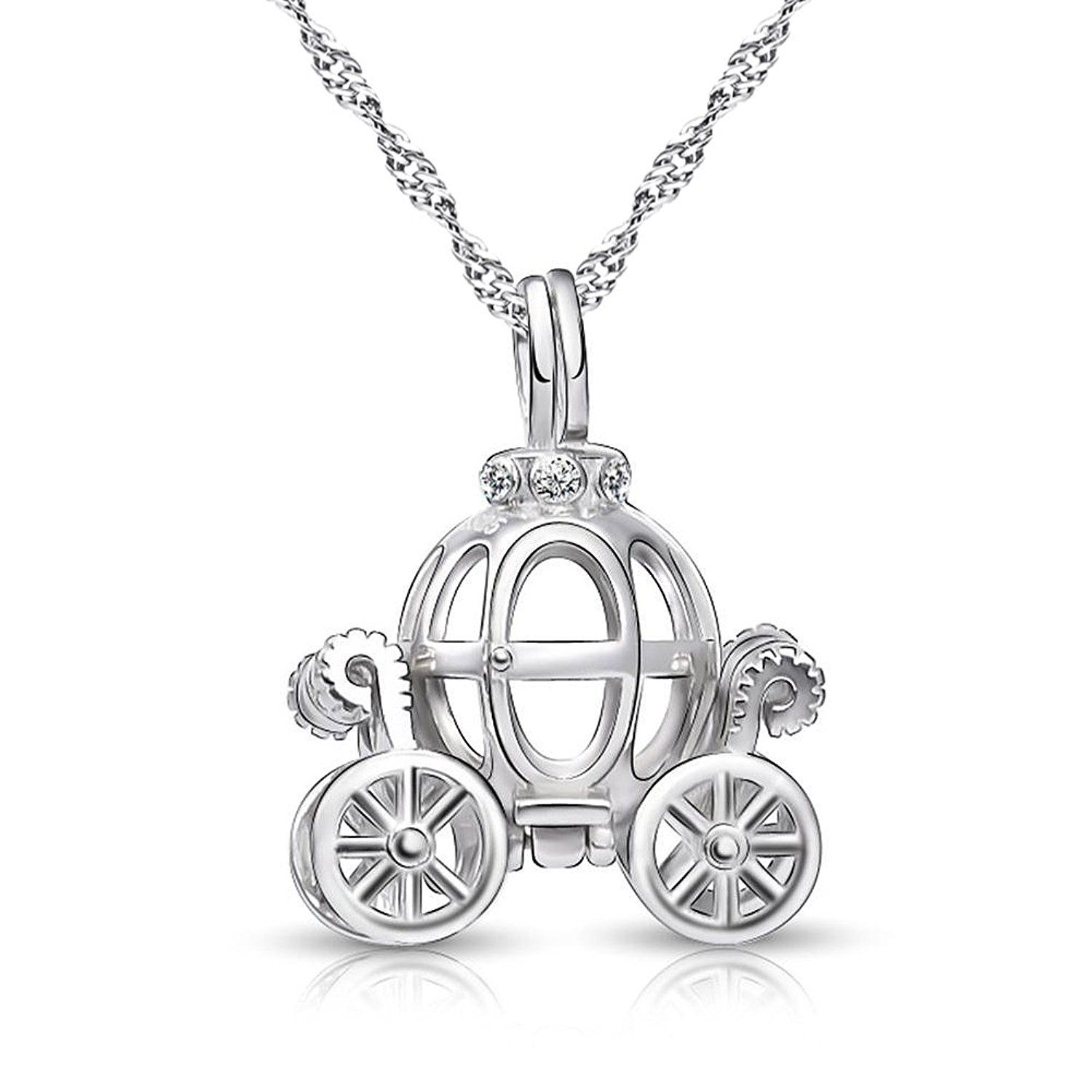 Disney Cinderella Inspired Sterling Silver Pumpkin Carriage Necklace  Jewelry Disney Bounding 6c00145b8