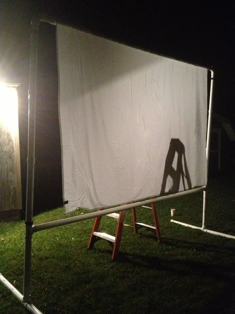 Outdoor Projector Screen on a Budget   Outdoor projector ...