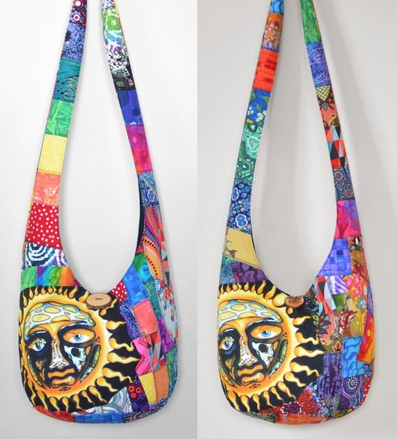 35d9d683553ee Made to Order Crossbody Hobo Bag Bag Boho Bag Crazy Quilt Hippie Purse  Patchwork Sling Bag Hippie Ba