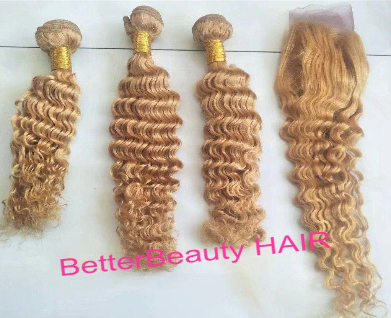 Rose Gold Huamn Hair Extensions Human Hair Bundles 3pcs With 1