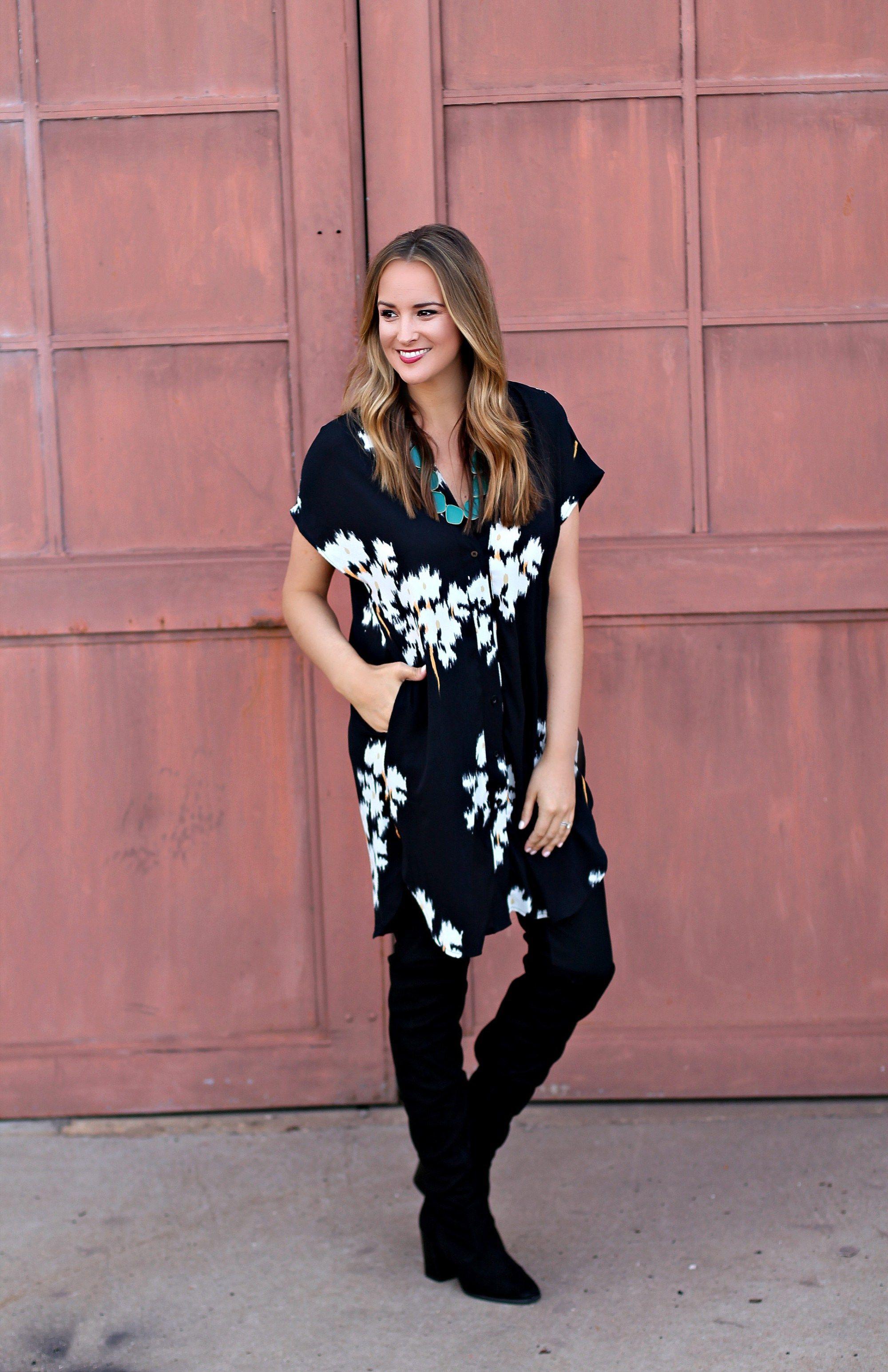 Floral Print Shirt Dress #LexWhatWear - #styleblog #blogger #fashionblog #outfitideas #outfitinspiration #styleideas #styleguide #shirtdress #trendwatch #outfittrends #floralprint #nashvillestyle