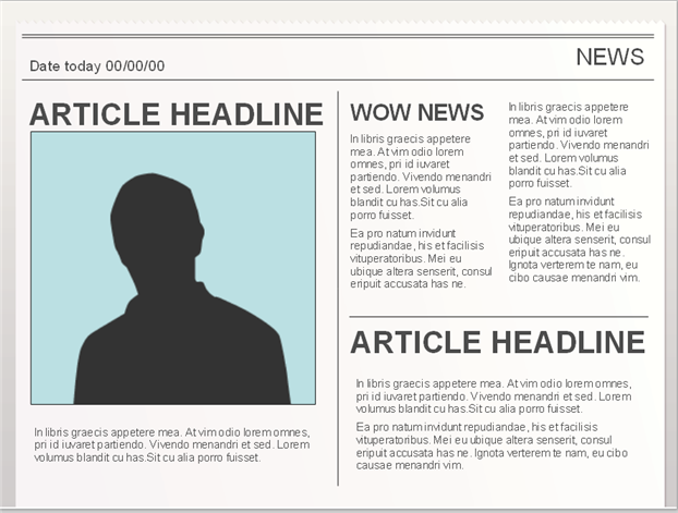 Powerpoint Templates For Creating Newspaper Projects Easy To Edit