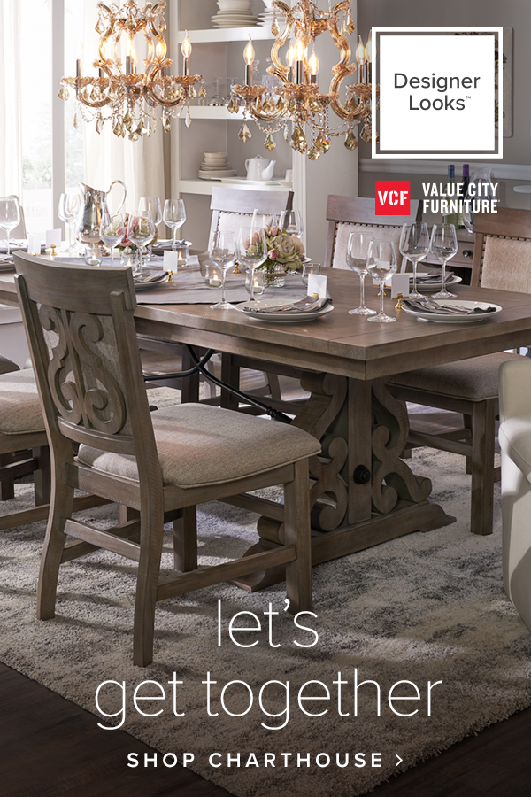 Charthouse Counter Height Dining Table And 6 Upholstered Stools