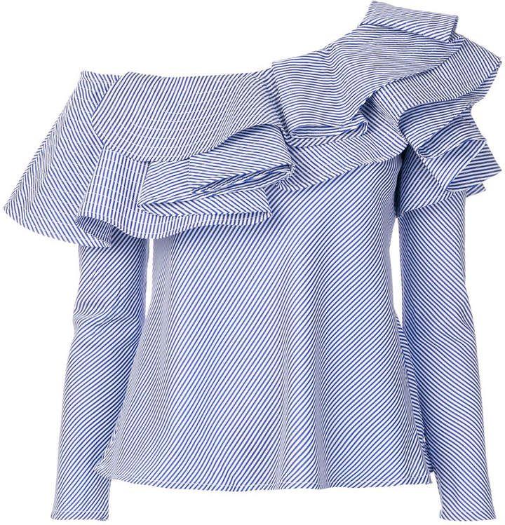 dc9ad988dbd8e4 Jovonna asymmetric ruffle blouse Eva, Bell Sleeves, Bell Sleeve Top, Ruffle  Blouse,