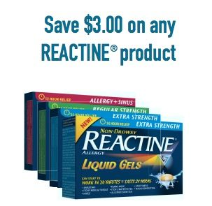 Coupon - Save $3 on any Reactine Product | Coupon | Coupons