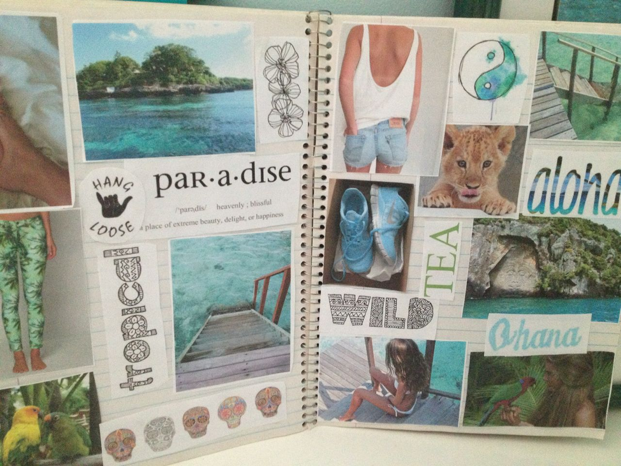 Scrapbook ideas about yourself - Beach Collage Tumblr Google