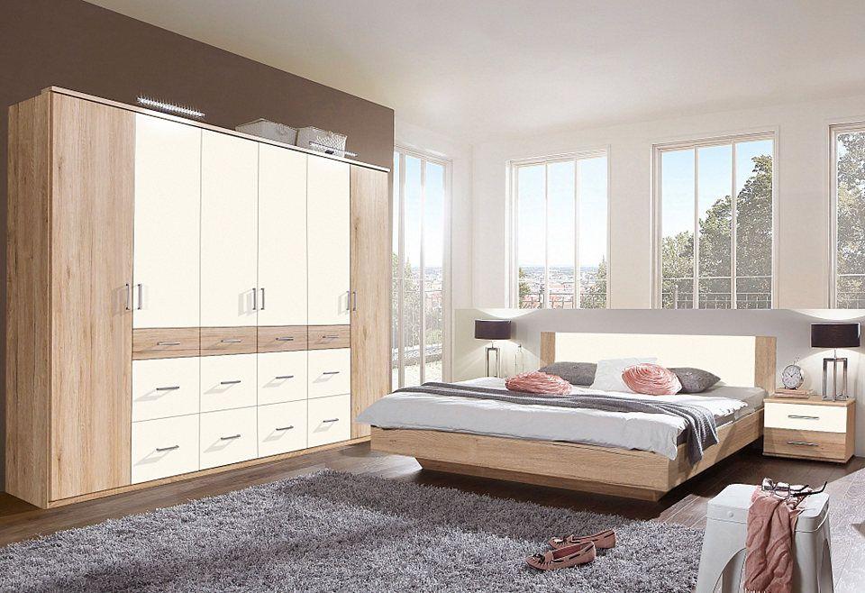 Home affaire Schlafzimmer-Set «Hugo» (4-tlg), Bett 180 cm, 5-trg - schlafzimmer set günstig