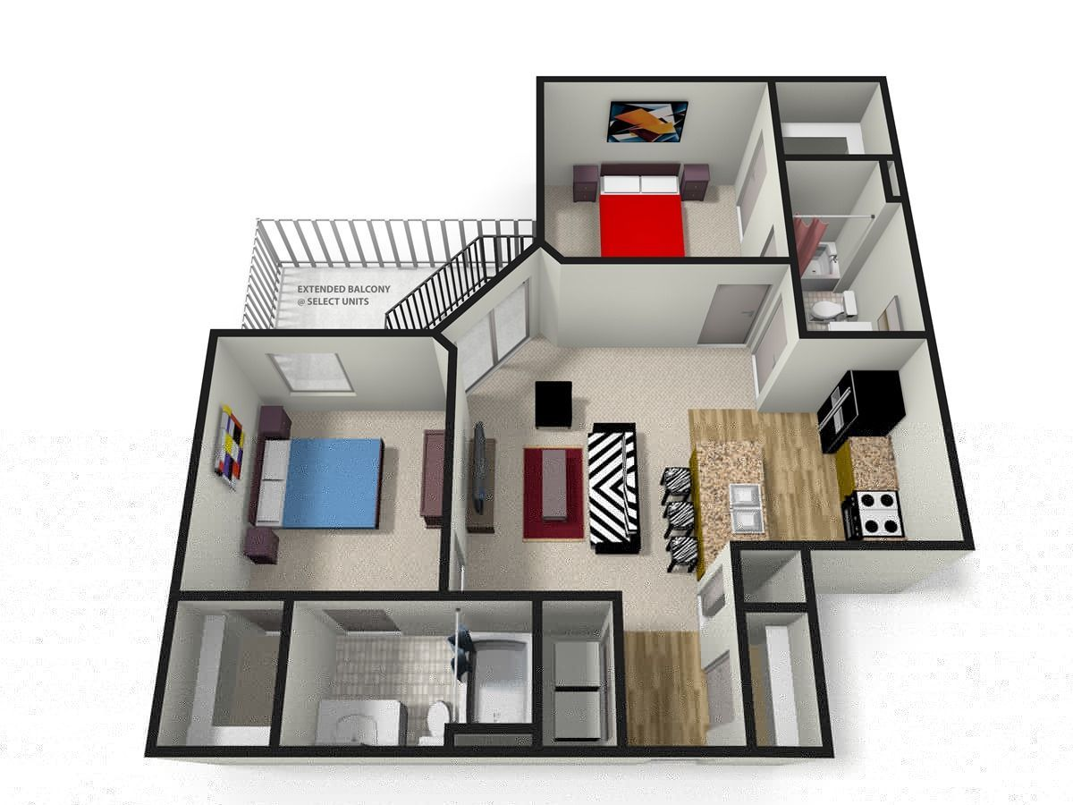 FYI: Two Bedroom Apartments Near Me | Home decor ...