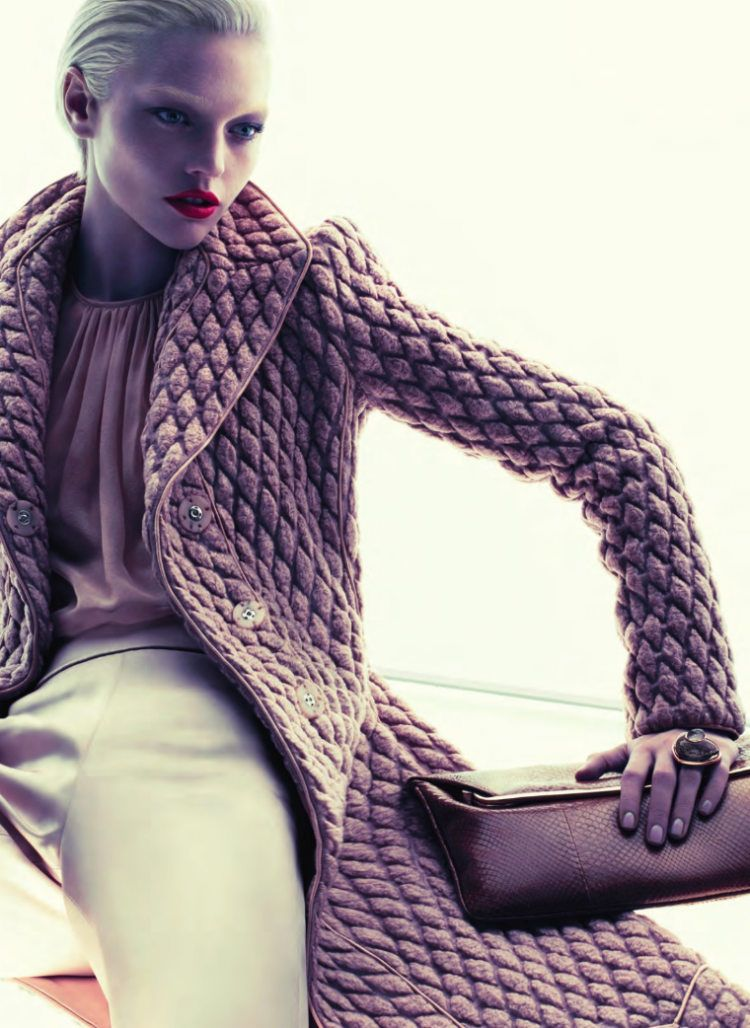 Giorgio Armani Fall 2011 Campaign | Sasha Pivovarova by Mert & Marcus - face.