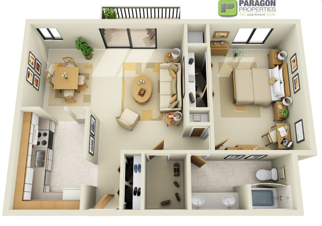 1 Bedroom 1 Bath Paragon Properties Franklin River Apartments Apartments In Southfield Mi