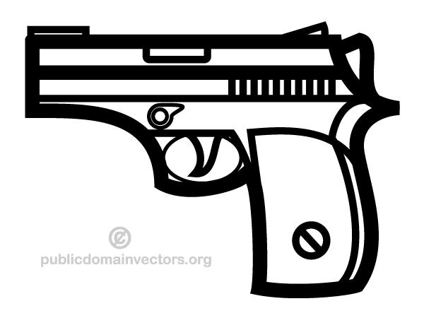 Handgun Vector Clip Art Hand Guns Clip Art Art