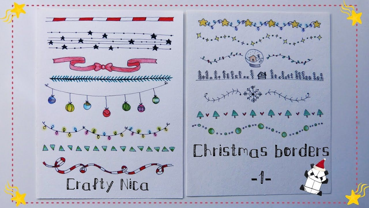 Borders And Frames Designs Borders For Christmas Cards School