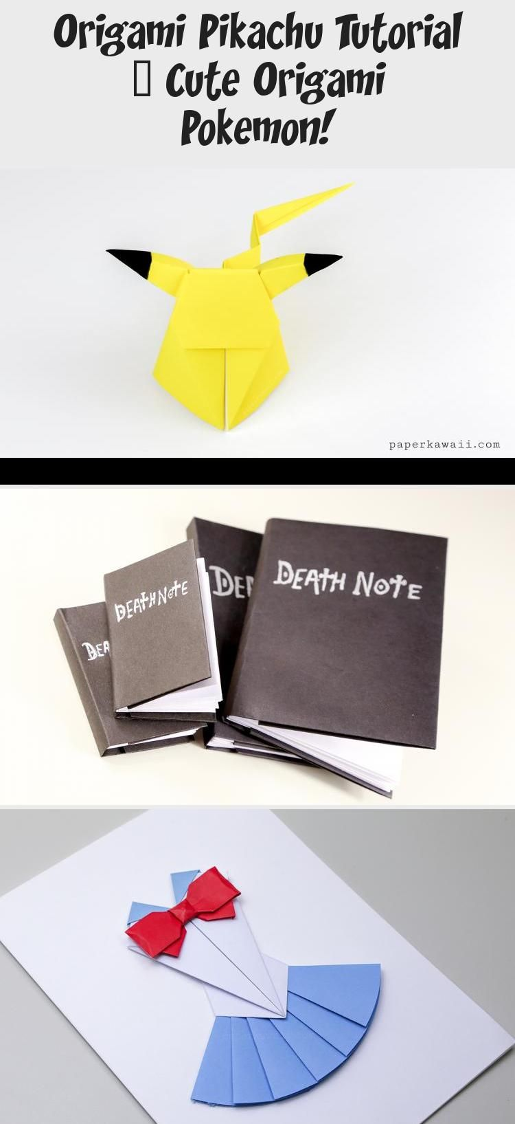 Photo of Origami Pikachu Tutorial – Süßes Origami Pokémon! – Paper Kawaii #origamiBird #or …