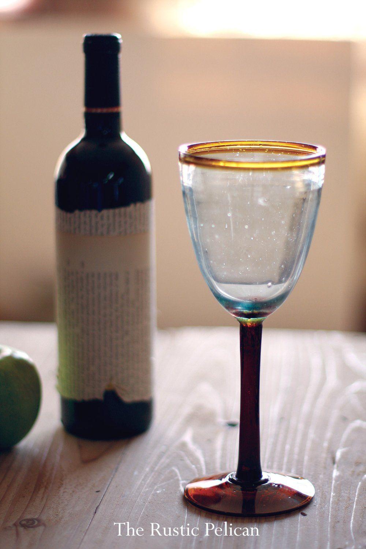 Elegant Wine glass, Casual dinnerware, Modern, Glassware, Farmhouse Rustic Home decor